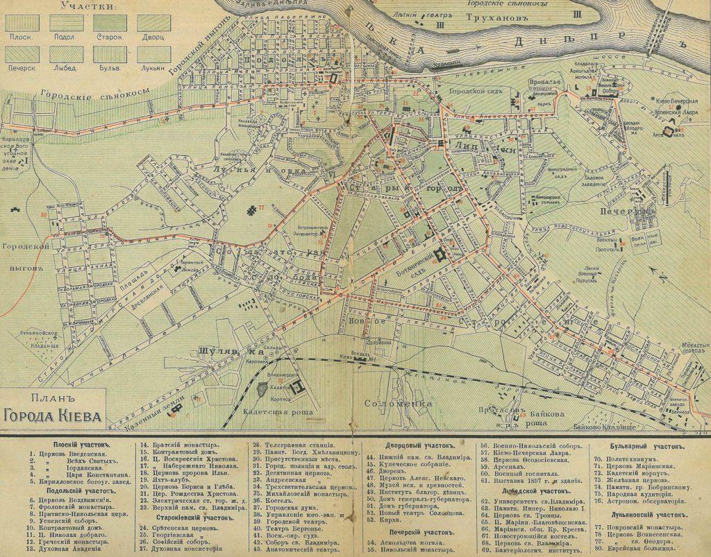 План города Киева 1900 года