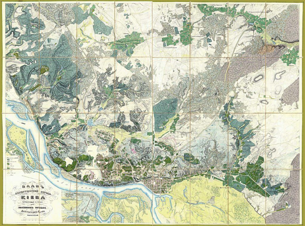 План Киева 1842 год