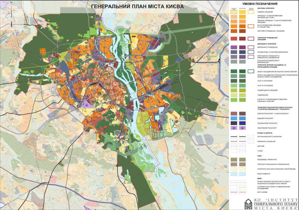 Современный генплан Киева