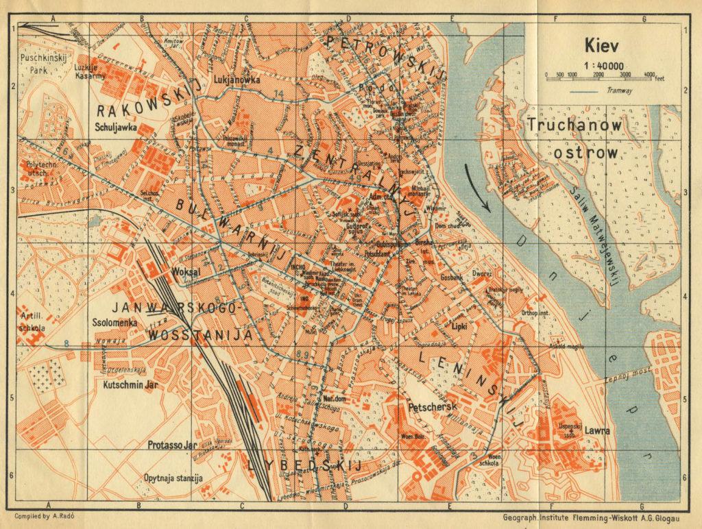 Немецкая карта Киева 1929 года