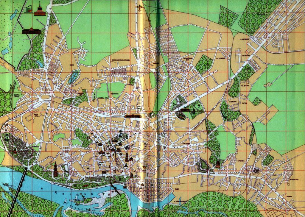 Карта Киева 1959 года