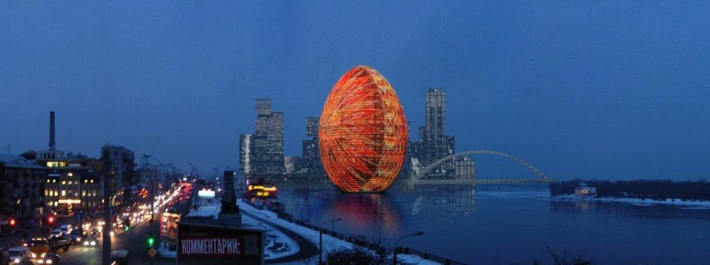 Яйцо-пысанка на Днепре, Киев