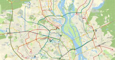 Схема руху та перелік маршрутів міського громадського наземного транспорту на час протиепідемічних обмежень