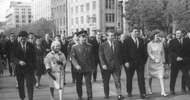 Юрий Гагарин в Киеве