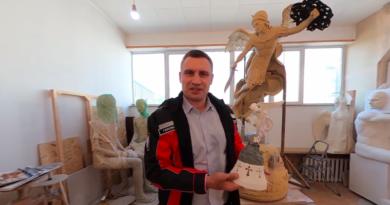 Кличко показав макет нового фонтану-пам'ятнику. Відео 360