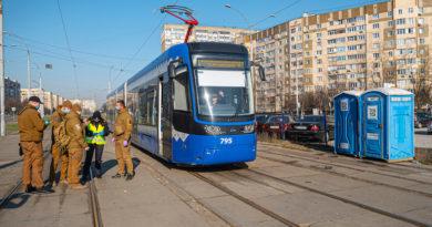 Як працює київський трамвай на карантині і хто на ньому їздить. Відео