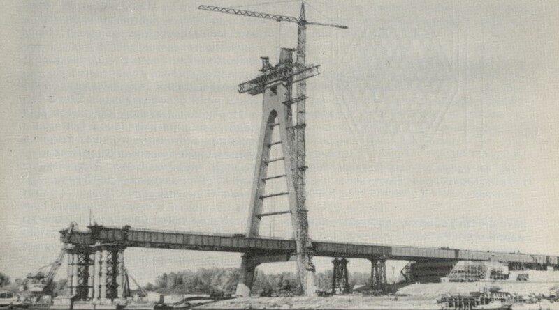 Строительство Северного моста. Кинохроника