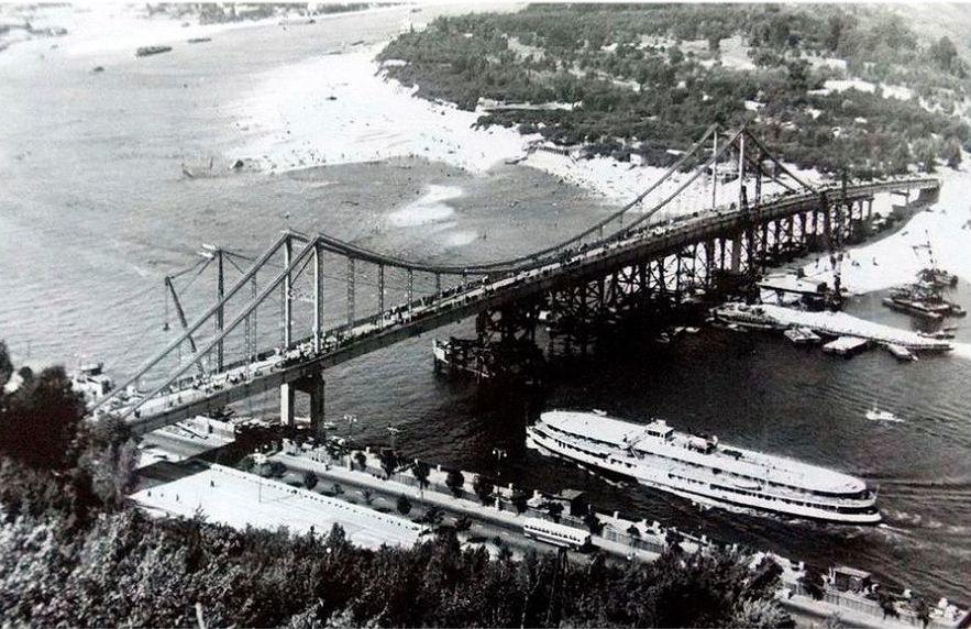 Парковий міст через Дніпро. Історія