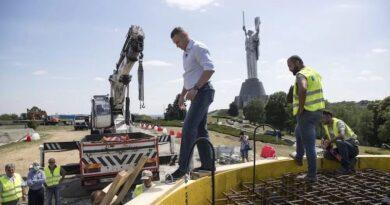 Будівництво гігантського прапору у Києві фінансує благодійний фонд Кличка - рух ЧЕСНО