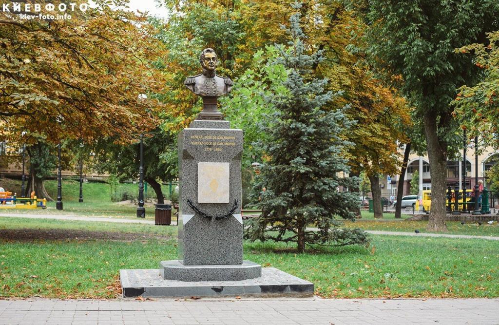 Памятник генералу Хосе де Сан-Мартину