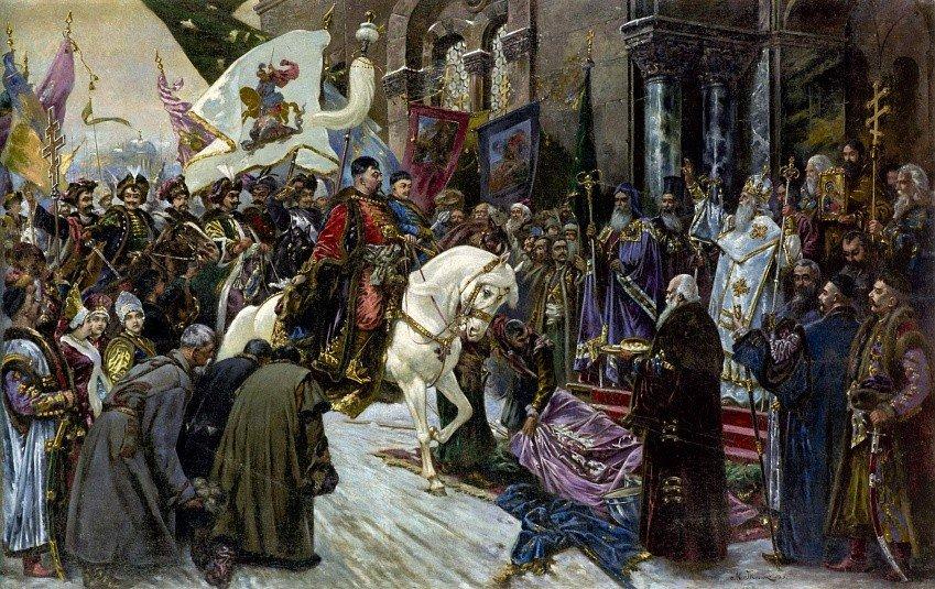 Торжественная встреча казацкого войска во главе с Богданом Хмельницким в Киеве 1648 года