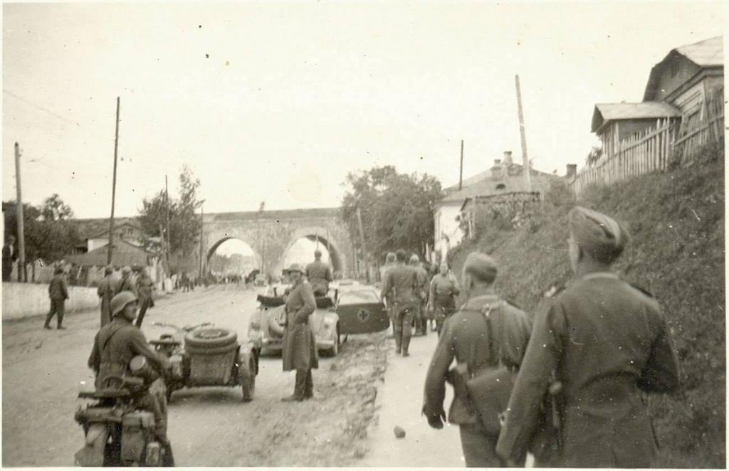 1941 год.  Куреневский железнодорожный мост.