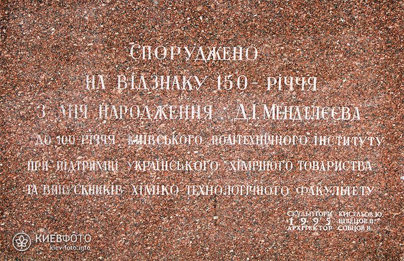 Памятник Дмитрию Менделееву