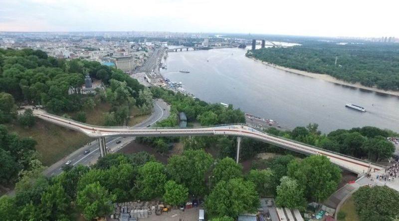 Пешеходно-велосипедный мост через Владимирский спуск или мост Кличко