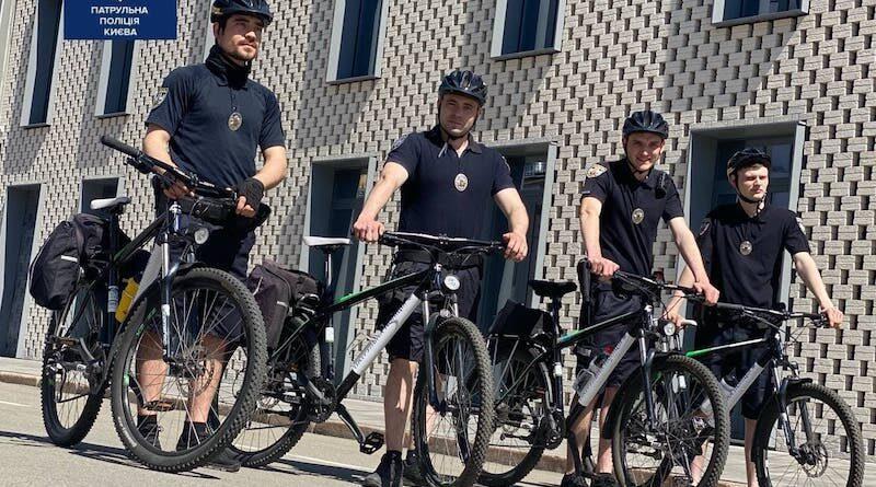 Вулиці столиці патрулюватимуть поліцейські на велосипедах.