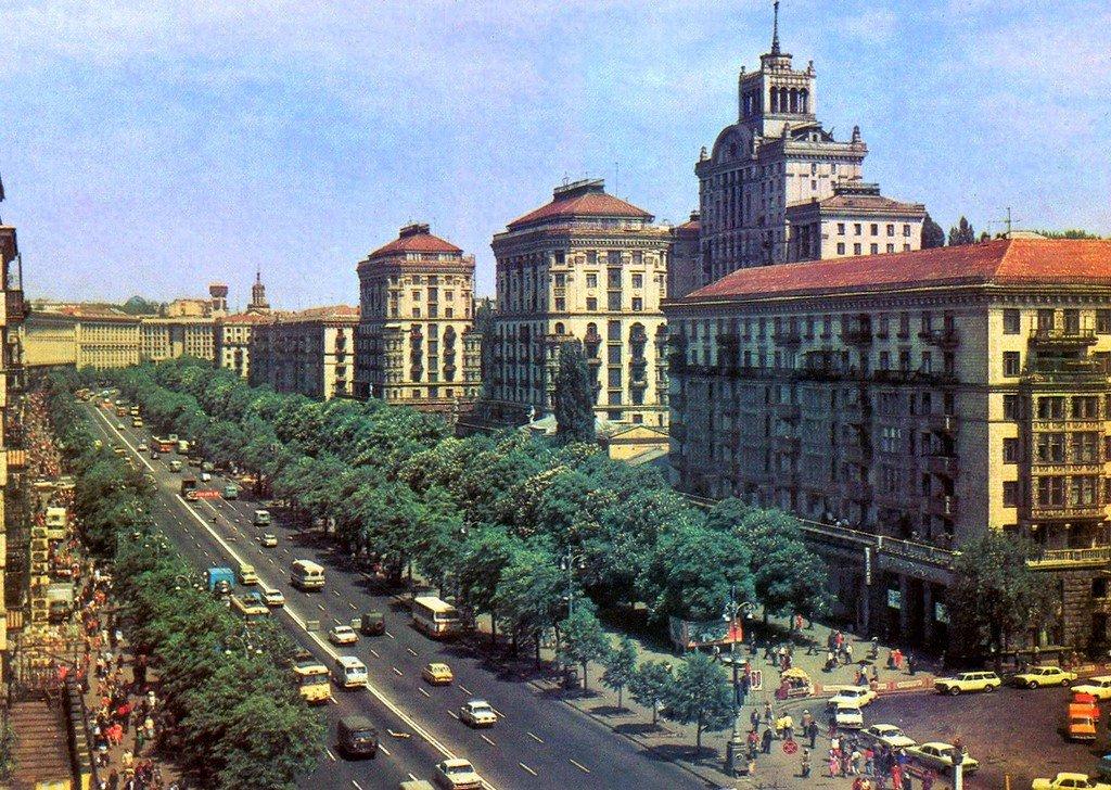 Киев на открытках 1985