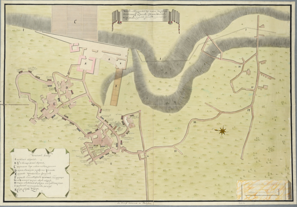 Планы катакомб Киево-Печерской лавры 1745