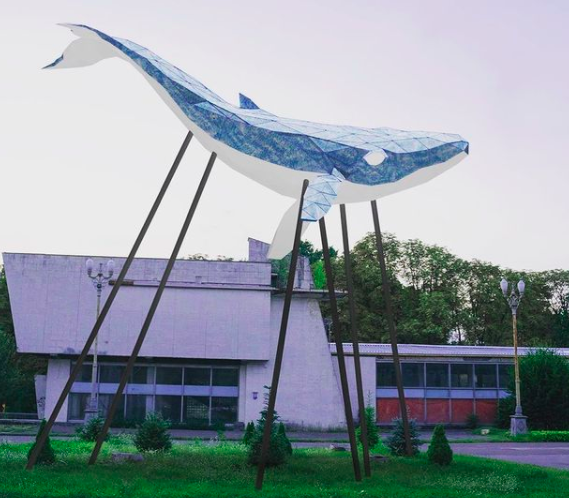 Медіа-скульптура «Київський Кит»