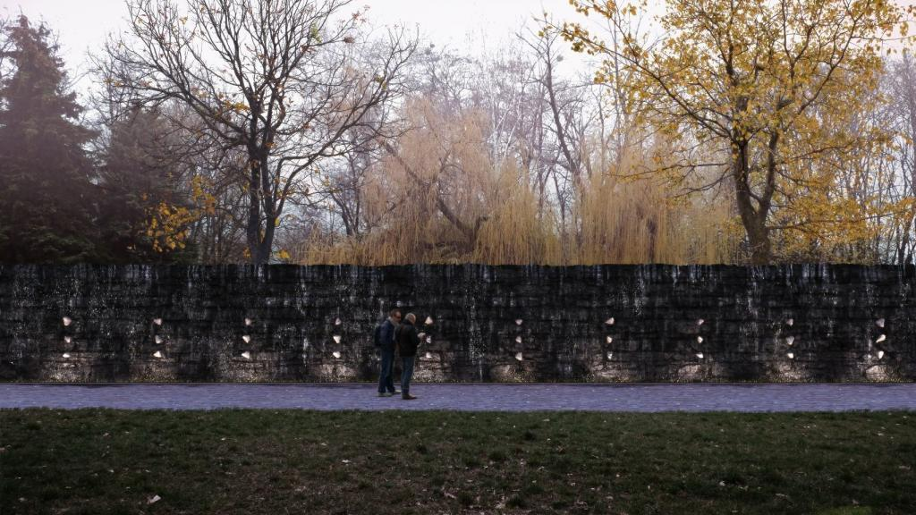 «Кристаллическая стена плача» в Мемориальном центре Холокоста «Бабий Яр»
