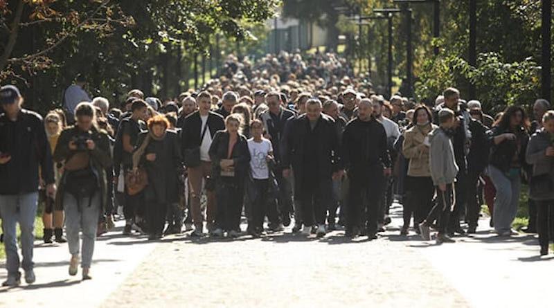 У Києві сотні людей пройшли маршем у пам'ять про жертв Бабиного Яру