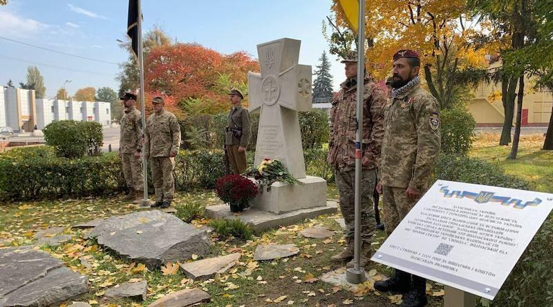 крест в честь Степана Бандеры и защитников Украины