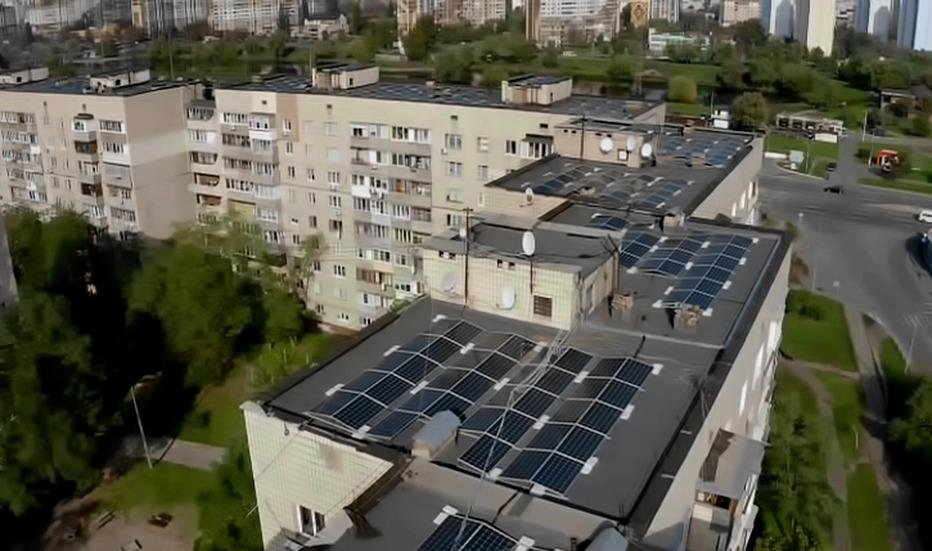 ДТЕК під'єднав до мережі найбільшу в Україні сонячну електростанцію на даху багатоквартирного житлового будинку