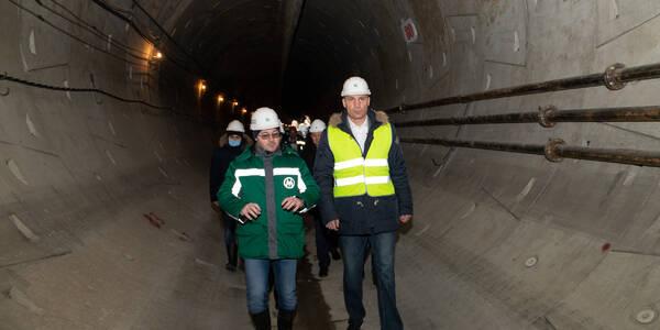 Кличко показав, як будують метро на Виноградар